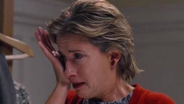 Emma Thompson in that famous scene from <i>Love Actually</i>.
