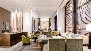 The Westin hotel Perth lobby started taking guests from Friday.