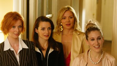 The SATC four: Miranda, Charlotte, Samantha and Carrie.