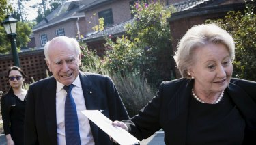 Ramsay Foundation chair John Howard photographed recently at a funeral.
