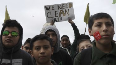 Students at a climate rally in San Francisco last week.