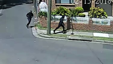 The two men who are believed to have shot dead former bikie boss Mick Hawi in Rockdale.