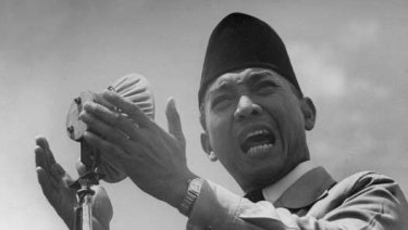 Sukarno,  Indonesia's founding father and first president.