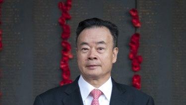 Dr Chau Chak Wing at the Australian War Memorial.