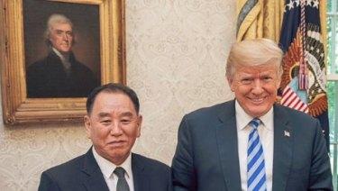 Trump, Kim Jong Chol, and a letter from Kim Jong-un.