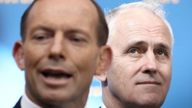 Tony Abbott and Malcolm Turnbull are at odds over energy policy.