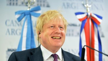 Boris Johnson, Britian's foreign secretary