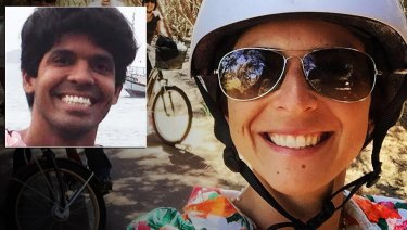 Mario Marcelo Santoro, inset, is wanted in NSW over the death of Cecilia Haddad.