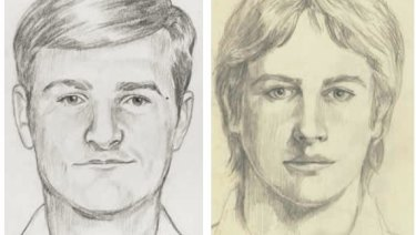 Police sketches of the Golden State Killer.
