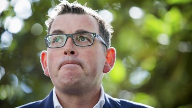 Premier Daniel Andrews speaks after the Ombudsman's damning report was released on Wednesday.
