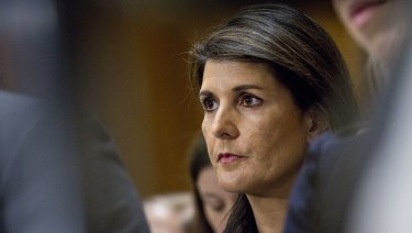 Nikki Haley, US ambassador to the United Nations UN.