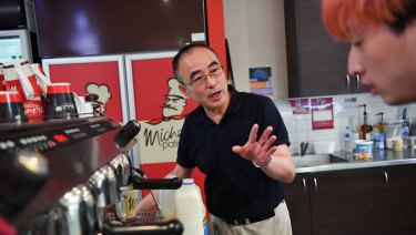 Wayne Hong a franchisee who owns the Michel's Pattiserie store in Knox Shopping Centre.