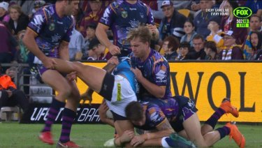 """Wishbone"": Cameron Smith has taken an early guilty plea for this tackle on Kevin Proctor."