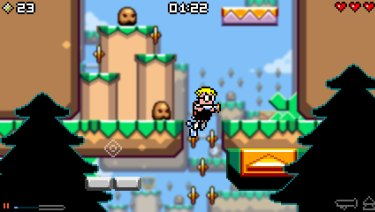 Multi-layered platforming in Mutant Mudds. You will die a lot, and you'll love it.