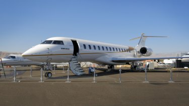 Bombardier Global 7000 private jet.