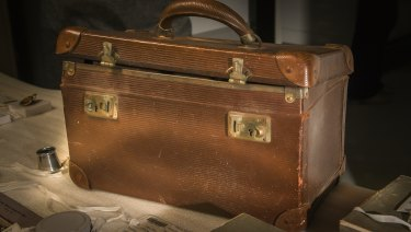 The case containing trinkets believed to belong to the World War I soldier.