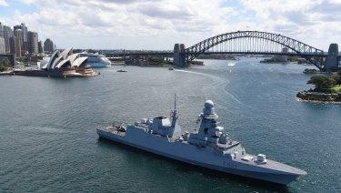 The FREMM, a frigate built by Italian firm Fincantieri, is one of the bids for Australia's next fleet.