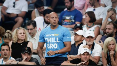 Christos Kyrgios wore a betting t-shirt during a prime-time game at the Australian Open.