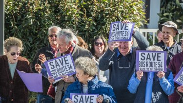 Furious Crace residents protest proposed bus route changes.