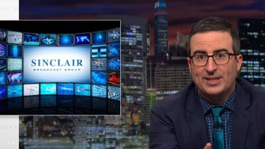 John Oliver took a shot at the Sinclair Broadcasting Group last year on HBO's Last Week Tonight.