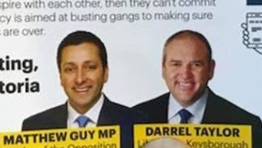The Liberal Party flyer by Keysborough candidate Darrel Taylor.