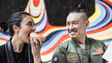 Geoff and Kristy Bannister, owners of Dr Dough Donuts.