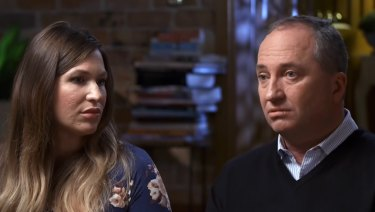 Vikki Campion and Barnaby Joyce during the paid interview.