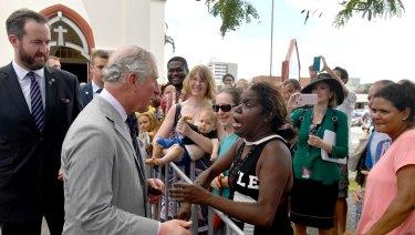 Prince Charles meets Elizabeth Kulla Kulla.