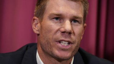 Joining the panel: David Warner.