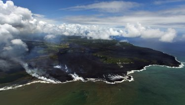 Most of the Kapoho area, including rock pools, is now covered in fresh lava.