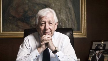 Westfield's Frank Lowy at his office in Sydney.