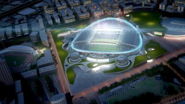 Divisive issue: An artist's impression of a rectangular ANZ Stadium.
