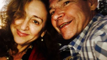 Rebecca Weisser and her husband Nick Cater.