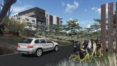 An artist's impression of a seniors housing development on the site of the former Oatley Bowling Club.