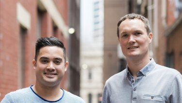 Nathan Airey and Matt Dyer, founders of Bookwell.