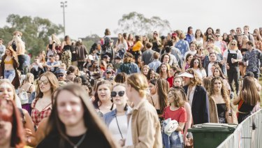 Almost 130 people used the pill testing service at Canberra's Groovin the Moo on Sunday.
