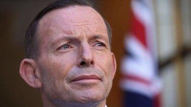 Tony Abbott during his prime ministership.