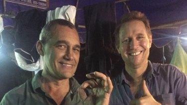 Dr Richard Harris and his dive partner Craig Challen.