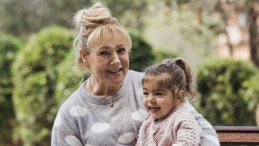 Labour of love: Dunja Erem gets up early two days a week to drive across Sydney to look after her granddaughter, Zoë