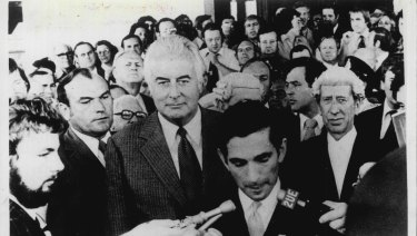 Gough Whitlam on the day of the Dismissal as Prime Minister on November 11, 1975.