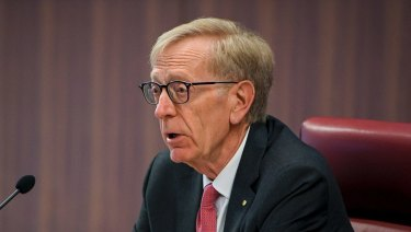 Commissioner Kenneth Hayne at the royal commission into the financial services industry.
