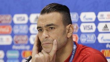 Egypt goalkeeper Essam El Hadary.