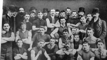 The Melbourne Football Club team of 1886.