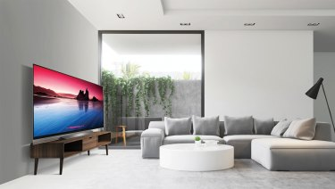 LG's E8 starts at $4999 for the 55-inch model, featuring better speakers and a slightly different design compared to the C series.