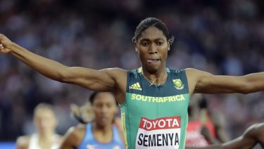Semenya covets 'the double': gold in the 800m and 1500m track events.