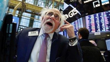 Wall Street suffered heavy falls on Monday.