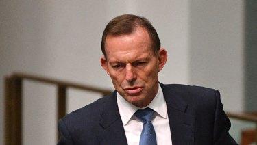 Former prime minister Tony Abbott in June.