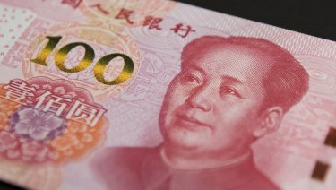 China's yuan has slumped against the US dollar.