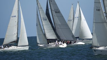 Yachts compete in the Property Industry Foundation's Charity Sailing Day.
