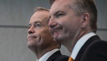 The Opposition Leader Bill Shorten and shadow treasurer Chris Bowen.
